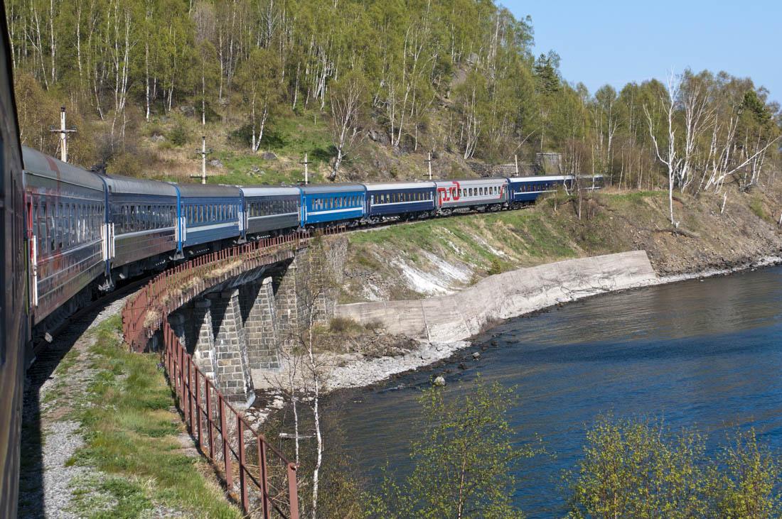 "Sonderzugreise ""Zarengold""                       Peking - Moskau                       Zarengold-Sonderzug - Am Baikalsee"