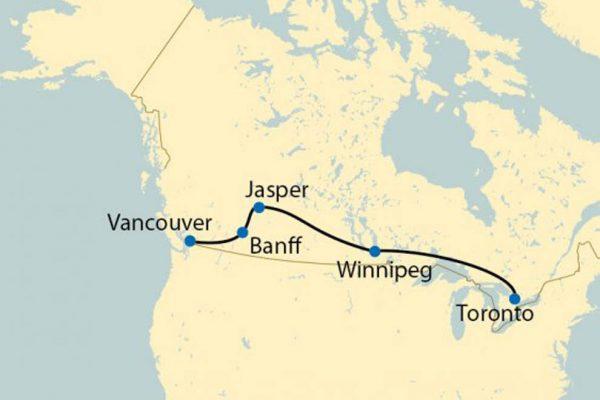 kanada złoty klon mapa